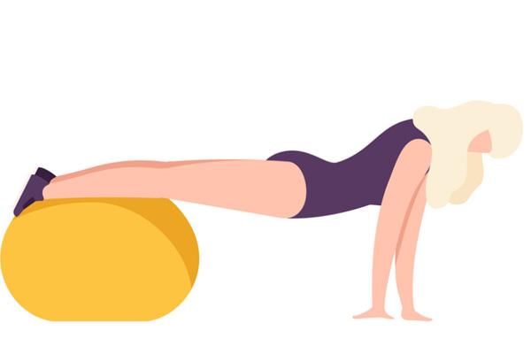 tập với bóng yoga